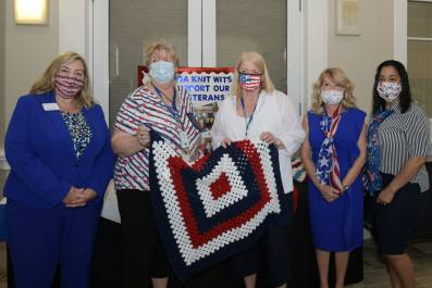 Treasure Coast Hospice, Veteran Pinning and the Knit Wits of PGA
